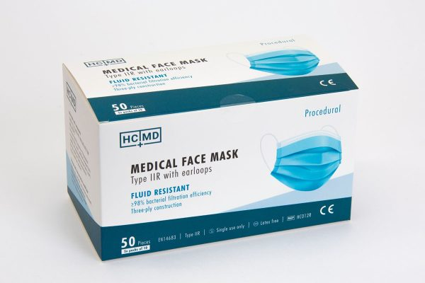 Box of 50 type IIR medical face masks