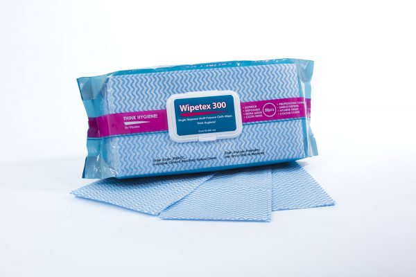 Pack of Wipetex 300ACC Wipes blue including wipes