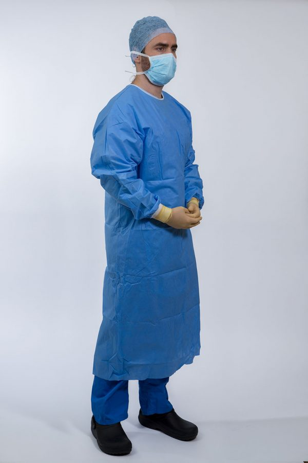 Surgeon wearing Isol8 Sterile Gown side view