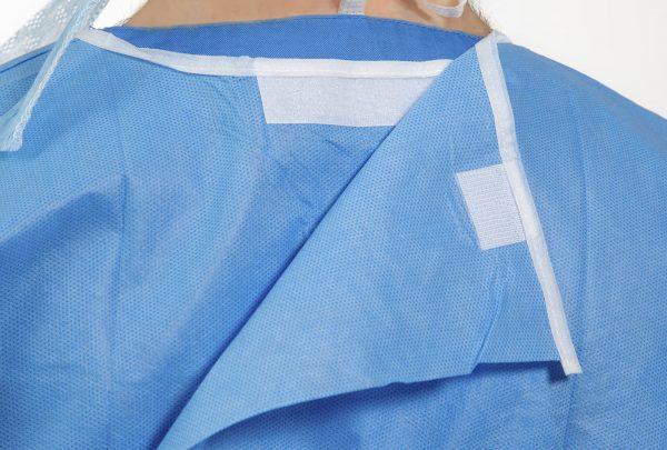 Isol8 Sterile Gown velcro neck closure