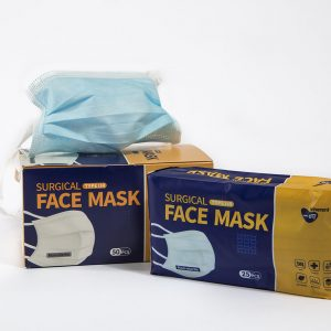 Mask and packaging of Surgical Face Masks Type IIR with twin ties